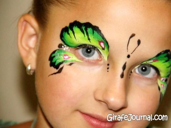Рисунки на лице для детей