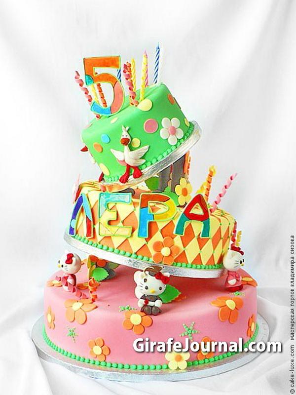 Праздничные торты на день рождения для девочек